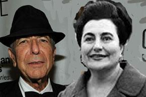 Loenard Cohen és Jovanka Broz Tito