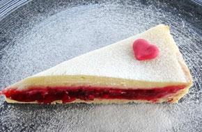 Fehércsokoládés málna torta