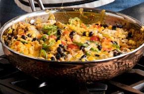 Mexikói ízek - Karfiolos csirke fekete babbal